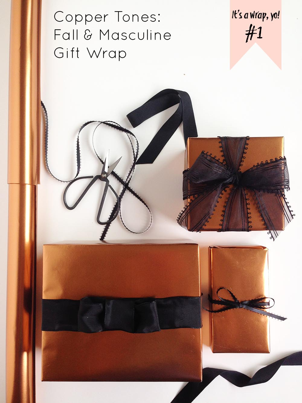 It s a wrap yo wrapping tips copper tones for fall